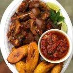 Tasty Asun plus Plantain and Sauce