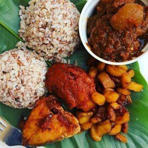 Ofada Rice With Sauce